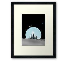 Lunar City Framed Print
