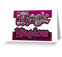 Attractions of Magic Kingdom Greeting Card