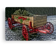 Yuletide Wagon Metal Print