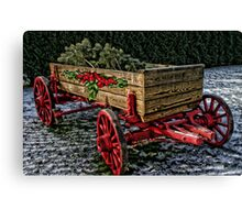 Yuletide Wagon Canvas Print