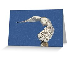 Into the beyond (snowing) Greeting Card