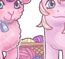 Baby Fleecey and Baby Woolly Sticker