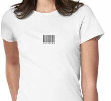 Princess Bar Code Tee Womens Fitted T-Shirt