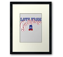 Love from Gallifrey! Framed Print