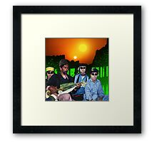 The Zeta Reticuli just love the Latest Pulsatronic Sitar Music of Earth Framed Print