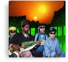 The Zeta Reticuli just love the Latest Pulsatronic Sitar Music of Earth Canvas Print