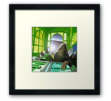 Captain Roshanara of the Baloch Class Starship Venture Vagri Chah has the Celestial Key Framed Print