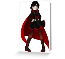 RWBY - Ruby Battle outfit Greeting Card