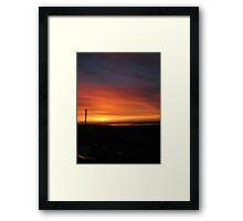 Morning Lightning Framed Print