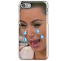 Kim Cryin Emoji Tears iPhone Case/Skin