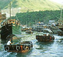 HONG KONG WATER TAXIS by pjwuebker
