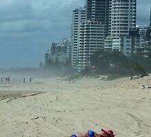 Sunbathing, Surfers Paradise, Qld Australia  by Sandra  Sengstock-Miller