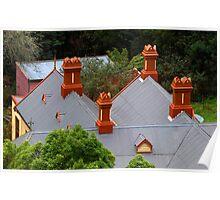 Chimneys of Walhalla Post Office Poster