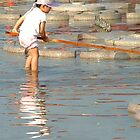 Child at Xinghai Park by ozecard