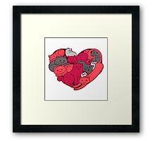 A Purrrrrfect Love Framed Print