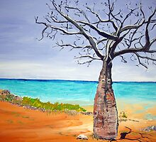 Broome Boab tree by gillsart