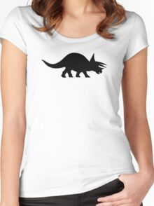 Triceratops Women's Fitted Scoop T-Shirt