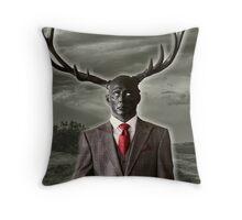 Stag Man Throw Pillow