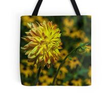 Bright Orange and Yellow Dahlia Tote Bag