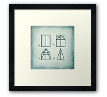 Paper Airplane 95 Framed Print