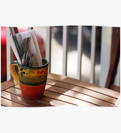 Place Setting in a Cup Poster