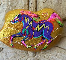 Rock 'N' Ponies - GOLD RUSH PONY by louisegreen