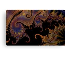 Dark Paisley Tails Canvas Print