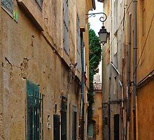 A Narrow Street in Aix-en- Provence, France by atomov