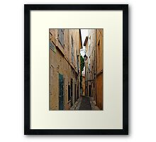 A Narrow Street in Aix-en- Provence, France Framed Print