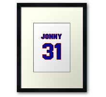 National baseball player Jonny Gomes jersey 31 Framed Print