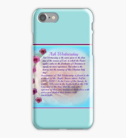 Ash Wednesday    Dedicated To Ash Wednesday iPhone Case/Skin