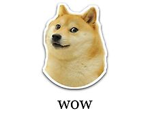 ' wow ' Doge Design  by Emoji Mania