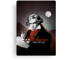 Beethoven piano virtuoso Canvas Print