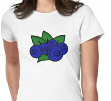 Blueberry Womens Fitted T-Shirt