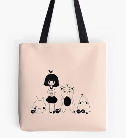 plant girl & friends (peach) Tote Bag