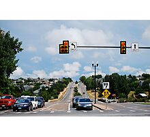 Red Light....  STOP! Photographic Print