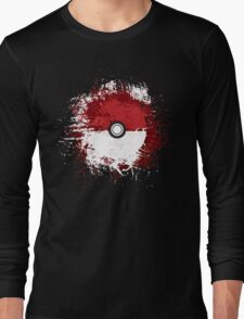 Pokeball Splat Long Sleeve T-Shirt