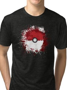 Pokeball Splat Tri-blend T-Shirt