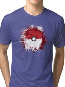 Pokeball Splat Tri-blend T-Shirt