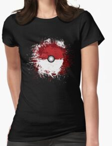 Pokeball Splat Womens Fitted T-Shirt
