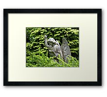 Don't blink, don't look away! Framed Print