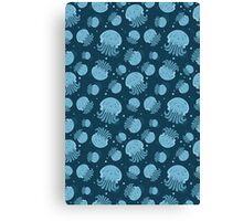 Night jellyfish Canvas Print