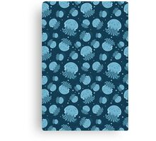 Night jellyfish Canvas Print