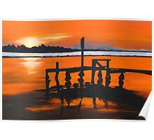 The Old Jetty - Iluka Poster