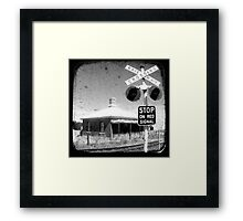 Stop on Red Framed Print