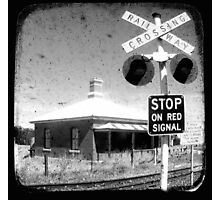 Stop on Red Photographic Print