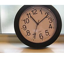 Tilted Clock Photographic Print