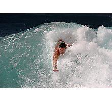 Bodysurfing Point Panic Photographic Print