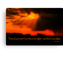 """And God Spoke"" Canvas Print"