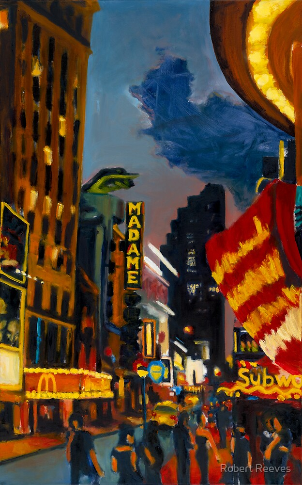 NYC Times Square (Madame McSubway) by Robert Reeves